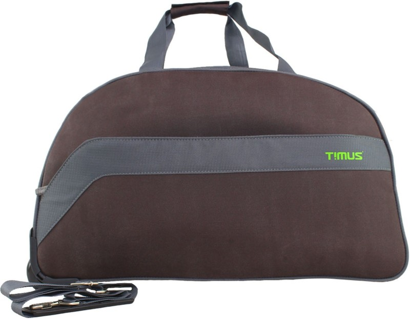 TIMUS BOLT 65 CM COFFEE 2 WHEEL DUFFLE FOR TRAVEL - CHECK-IN LUGGAGE Duffel Strolley Bag(Brown)