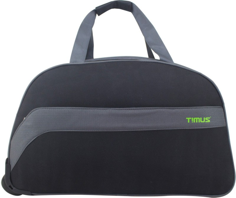 timus BOLT 55 CM BLACK 2 WHEEL DUFFLE FOR TRAVEL-CABIN LUGGAGE Travel Duffel Bag(Black)