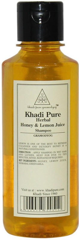 Khadi Pure Herbal Honey & Lemon Juice Shampoo(210 ml)