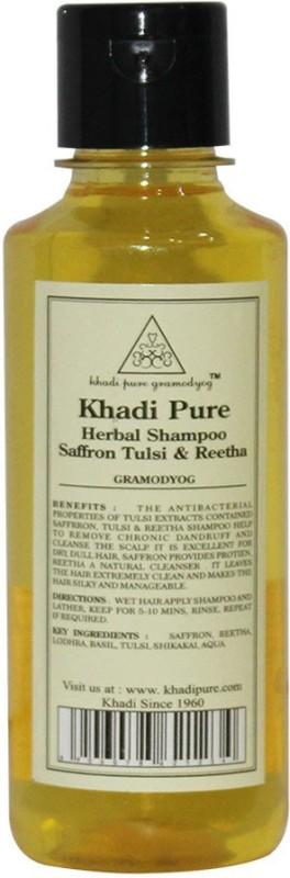 Khadi Pure Herbal Saffron, Tulsi & Reetha Shampoo(210 ml)