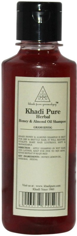 Khadi Pure Herbal Honey & Almond Oil Shampoo(210 ml)