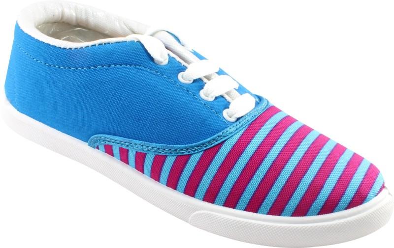 Claptrap Canvas Shoes For Women(Blue, Pink)