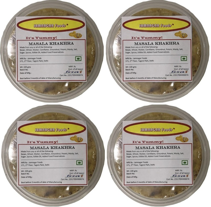 Jamnagar Foods MASALA KHAKHRA 880 GM(4 x 220 g)