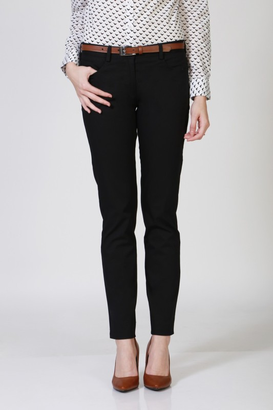 Allen Solly Women Black Trousers