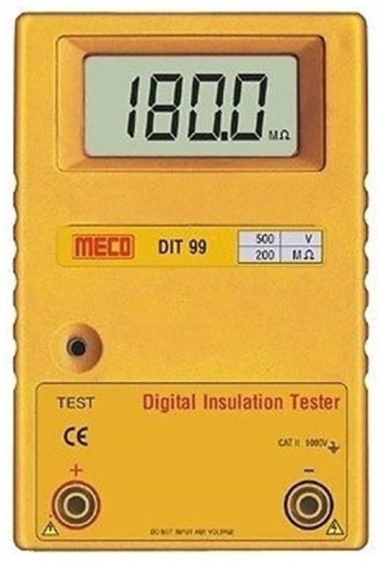 Meco DIT-99C Insulation Tester alongwith Calibration Certificate Digital Voltage Tester