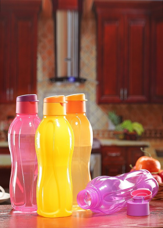 Tupperware Fliptop 750 ml Bottle(Pack of 4, Multicolor)