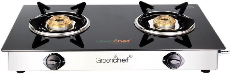 Greenchef NAMO Series Glass Manual Gas Stove(2 Burners)