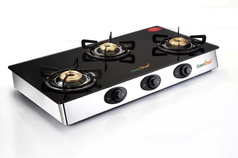 Greenchef Sapphire Series - A/I Glass Automatic Gas Stove(3 Burners)
