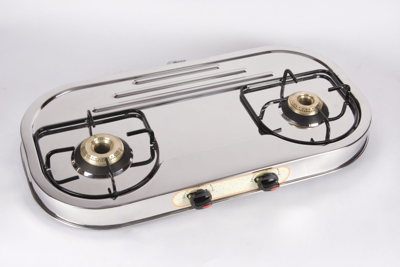 Greenchef SS Gas Stove - Ovel Series Stainless Steel Manual Gas Stove(2 Burners)