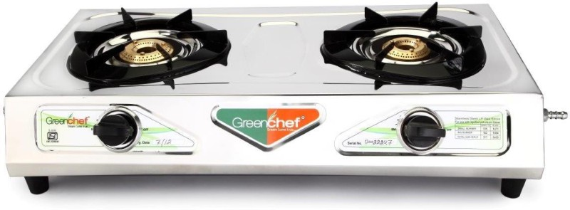 Greenchef SS Gas Stove Stainless Steel Manual Gas Stove(2 Burners)