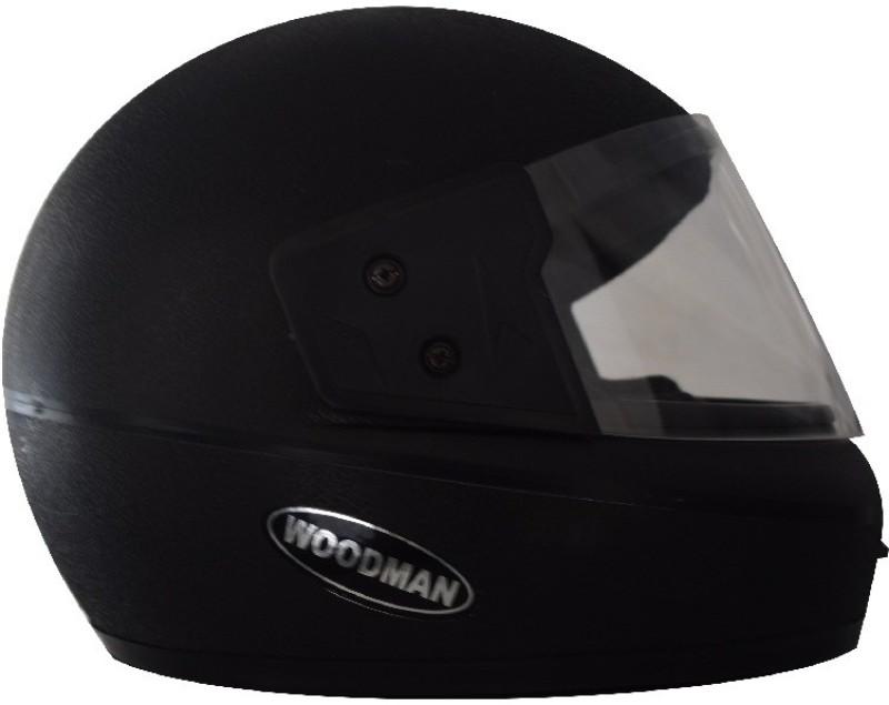 Woodman Matte Nexa Motorbike Helmet(Black)
