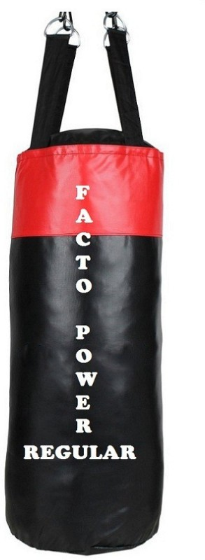 FACTO POWER Regular 1.5 Feet Long, SRF - STANDARD Material, Black and Red Color, Unfilled with Hanging Straps Hanging Bag(1.5, 18 kg)