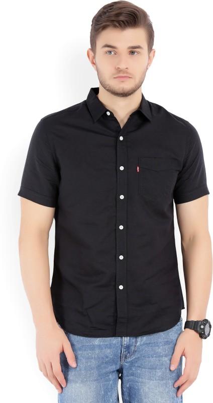 Levis Mens Solid Casual Spread Shirt