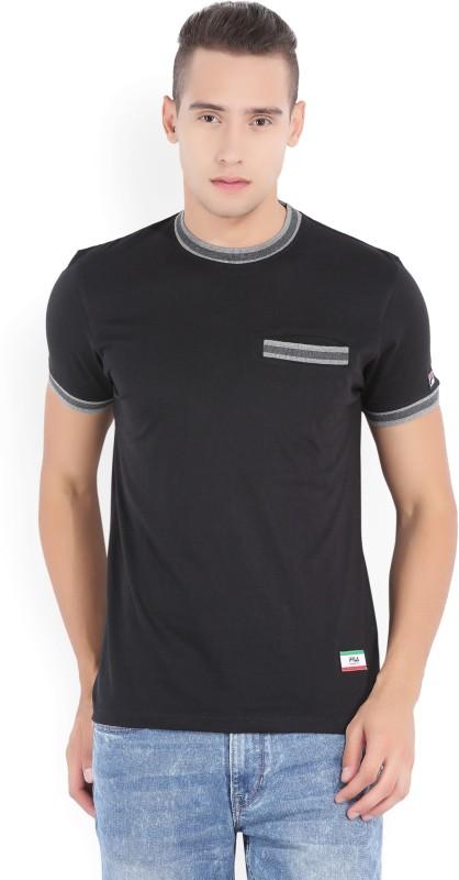 Fila Graphic Print Mens Round Neck Black T-Shirt