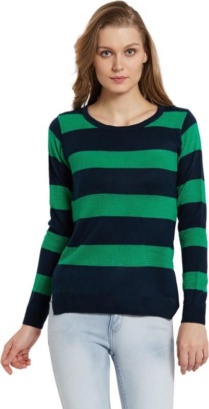 Globus Casual Full Sleeve Striped Women's Green Top