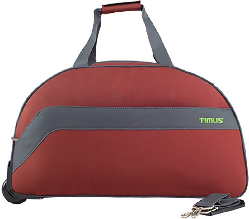 TIMUS BOLT 65 CM RUST 2 WHEEL DUFFLE FOR TRAVEL - CHECK-IN LUGGAGE Duffel Strolley Bag(Red)