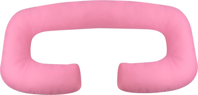 Mamma's Maternity Microfibre Solid Pregnancy Pillow Pack of 1(Pink)