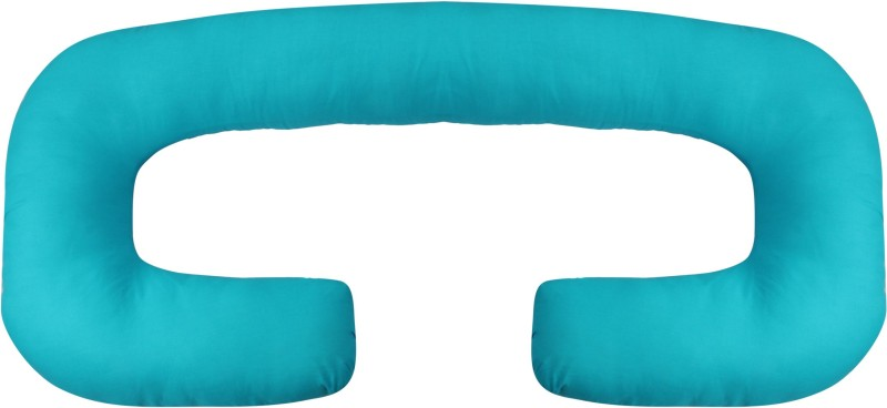 Mamma's Maternity Microfibre Solid Pregnancy Pillow Pack of 1(Blue)