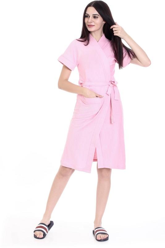 Goldstroms Pink Medium Bath Robe(1 Bath Robe, For: Women, Pink)