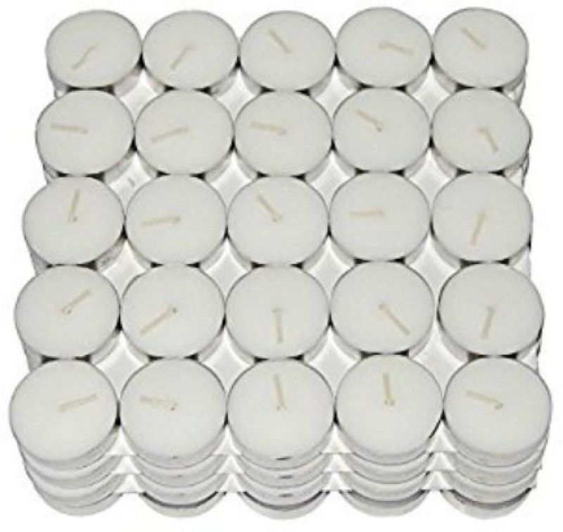 Nanki Trades Tealight Candle(White, Pack of 1)