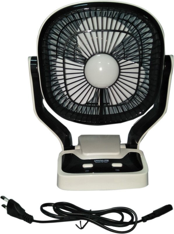 Care 4 9 2 speed 2907 Spacelite Powerful Rechargeable Table Fan With 22smd LED Lights 3 Blade Table Fan(white)