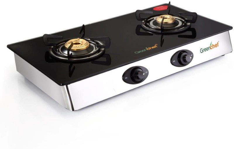 Greenchef Sapphire Series Glass Manual Gas Stove(2 Burners)