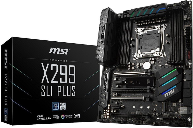 MSI Pro Series Intel X299 LGA 2066 DDR4 USB 3.1 SLI ATXX299 SLI PLUS Motherboard