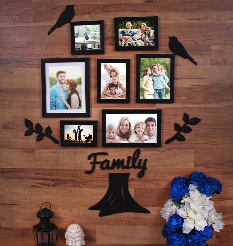 Painting Mantra Generic Photo Frame(Black, 7 Photos)
