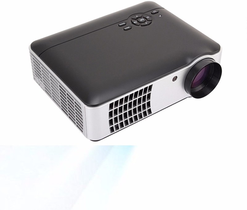 PLAY Android Full HD Smart WI-FI, HDMI, USB Portable 1920 x 1080P Home Theater 3D LED Projector with TV tuner 5000 lm LCD Corded Portable Projector(Black)