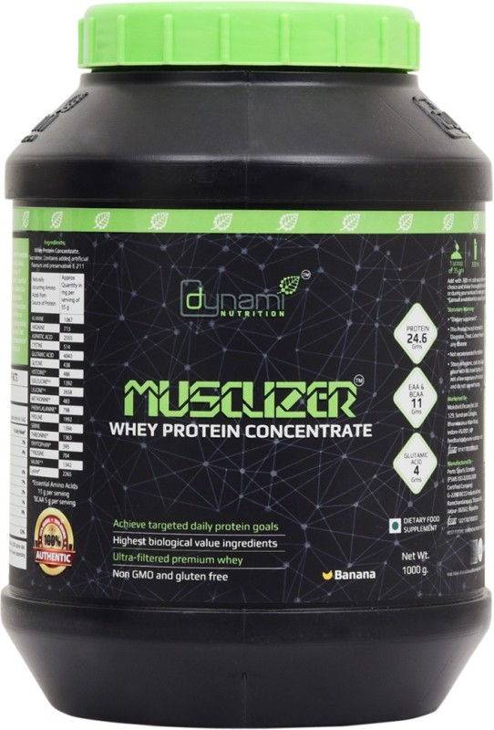 Dynami Nutrition Musclizer Whey Protein(1000 g, Banana)