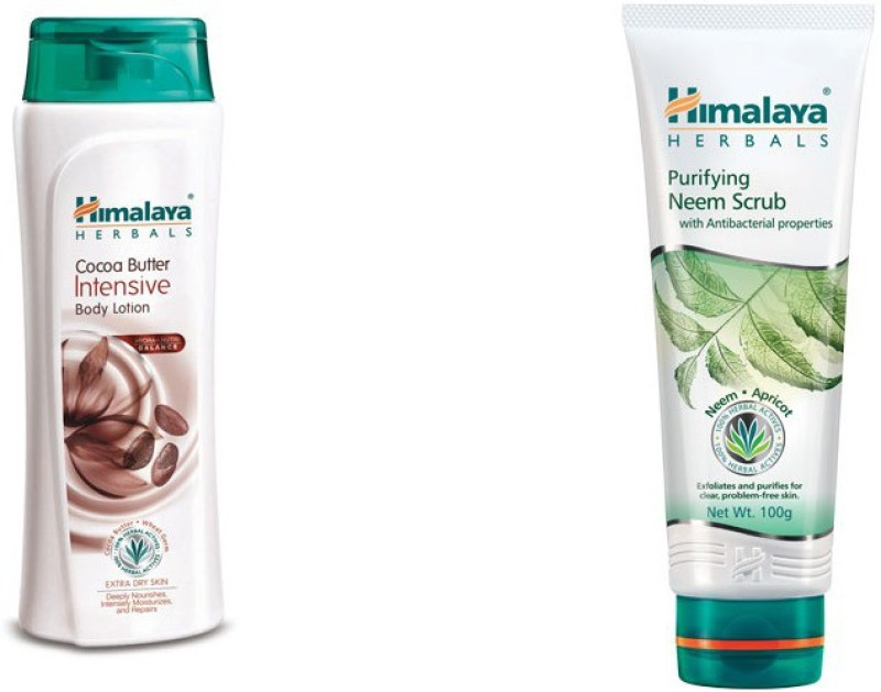 Himalaya coca butter intensive body lotion, neem face scrub(2 Items in the set)