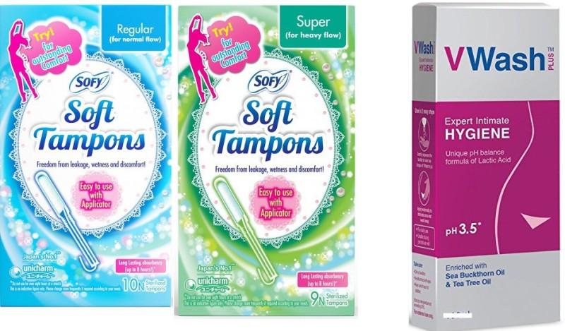 sofy Soft Tampons, v wash(Set of 3)
