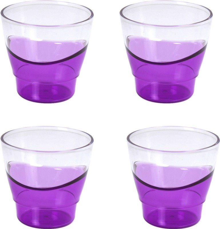 Tupperware Glass Set(290 ml, Purple, Pack of 4)