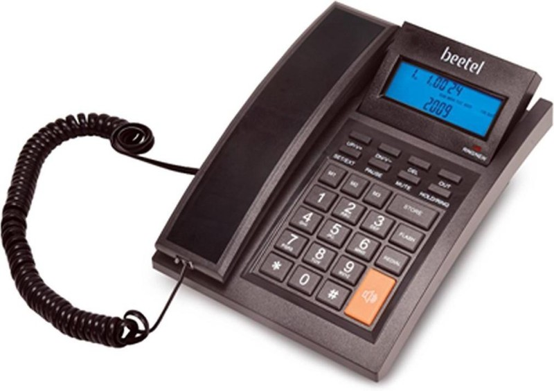 Magic M64 Beetel Corded Landline Phone(Black)