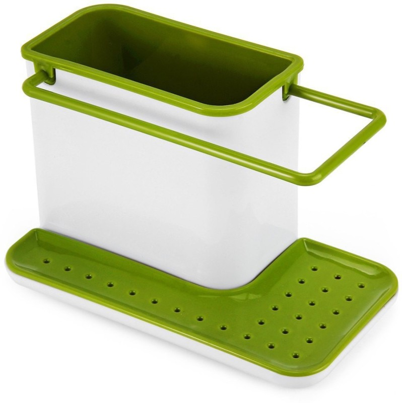 Mantavya 3 in 1 Kitchen Sink Caddy Organiser Stand Sink Sponge Holder(Plastic)