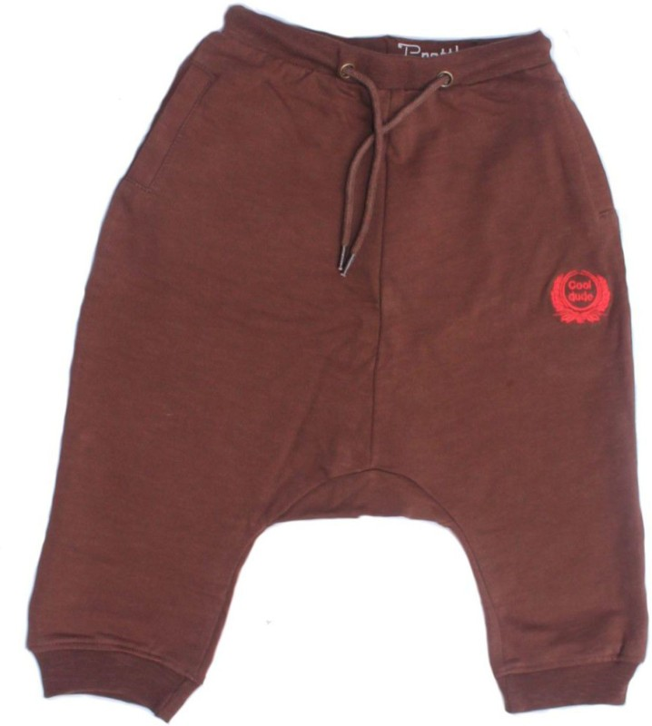 Prattle Embroidered Cotton Boys Harem Pants