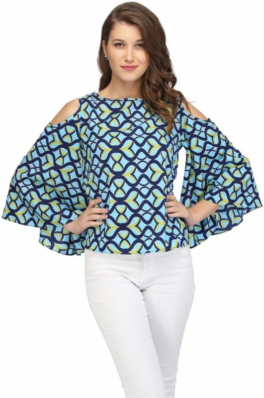 KARMIC VISION Casual Bishop Sleeve Printed Women's Multicolor Top