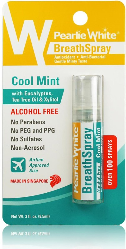 pearlie white Pearlie White BreathSpray Alcohol Free Cool Mint 8.5ml (100 sprays) Spray(8.5 ml)