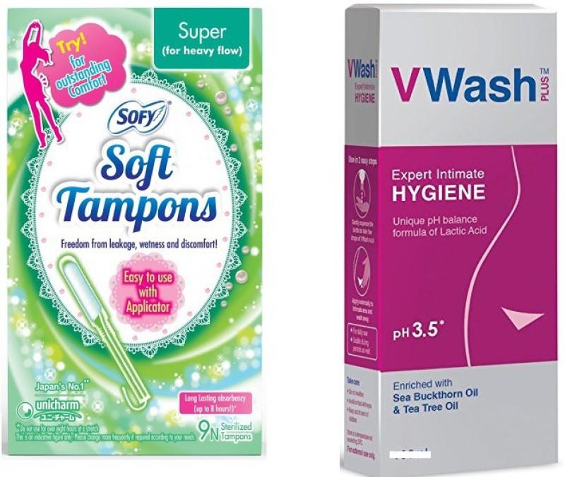 sofy Soft Tampons, v wash(Set of 2)