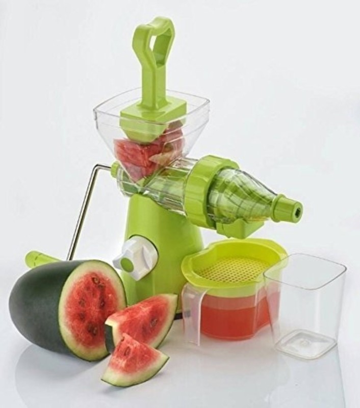 Sajani Plastic Vegetable And Fruit Hand Juicer With Waste Cup Plastic Hand Juicer(Multicolor Pack of 1)