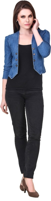 99 Affair Full Sleeve Solid Women Denim Jacket