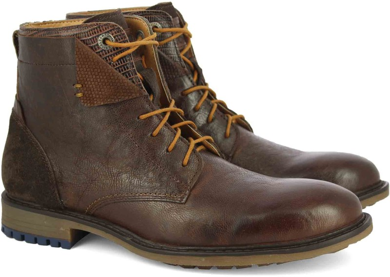 Alberto Torresi Boots For Men(Brown, Tan)