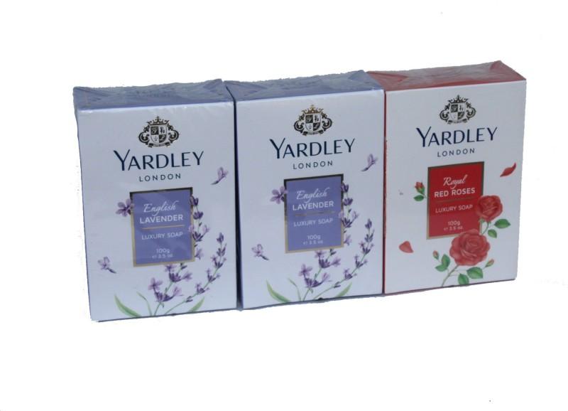 Yardley London Set of 3 Soap(300 g, Pack of 3)