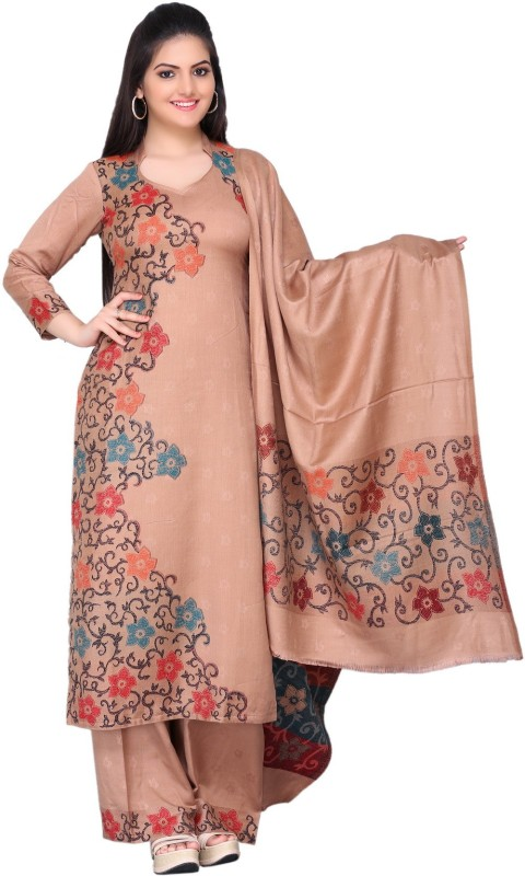 HK Colors Of Fashion Acro Wool Woven Salwar Suit Dupatta Material(Un-stitched)