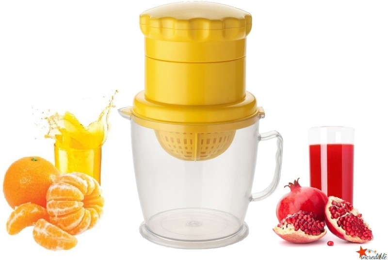 Incredible 2 IN 1 Fruit & Vegetables Citrus Orange Plastic Hand Juicer(Yellow Pack of 1)