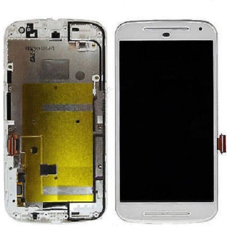SIRIUS Moto G2, IInd gen with frame White IPS LCD(Moto G (2nd gen))