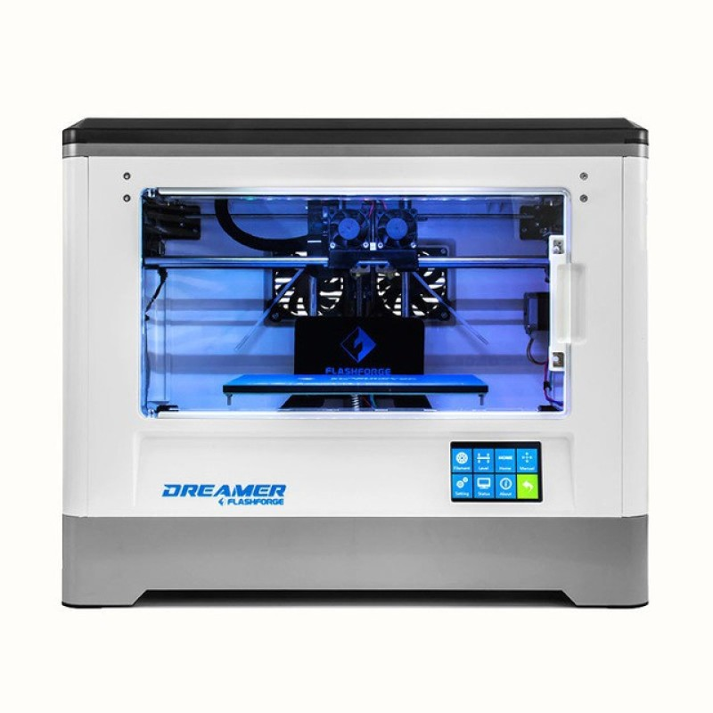 think3D Flashforge Dreamer Dual Extruder 3D Printer Multi-function Printer(White) image