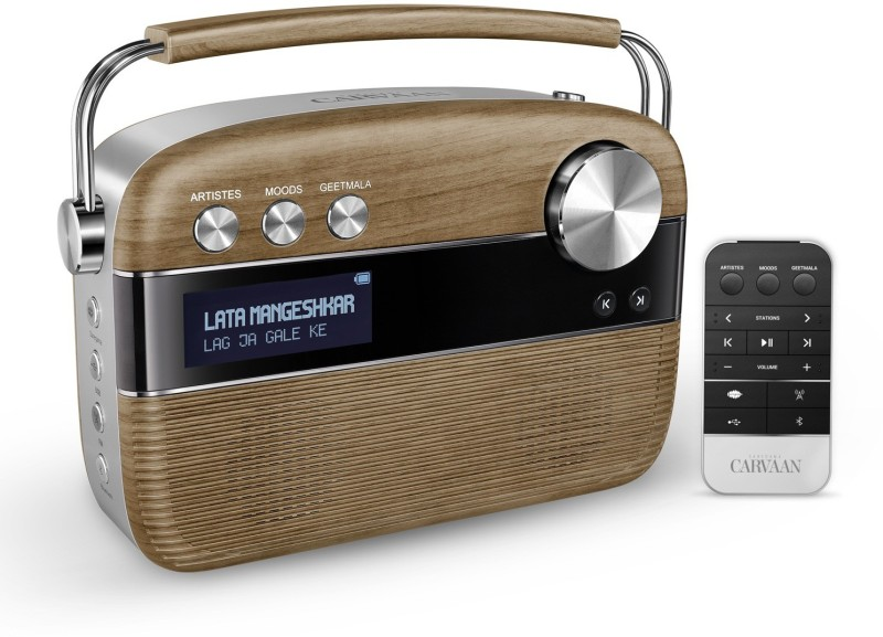 saregama Carvaan 6 W Bluetooth Home Audio Speaker(Walnut Brown, Stereo Channel)