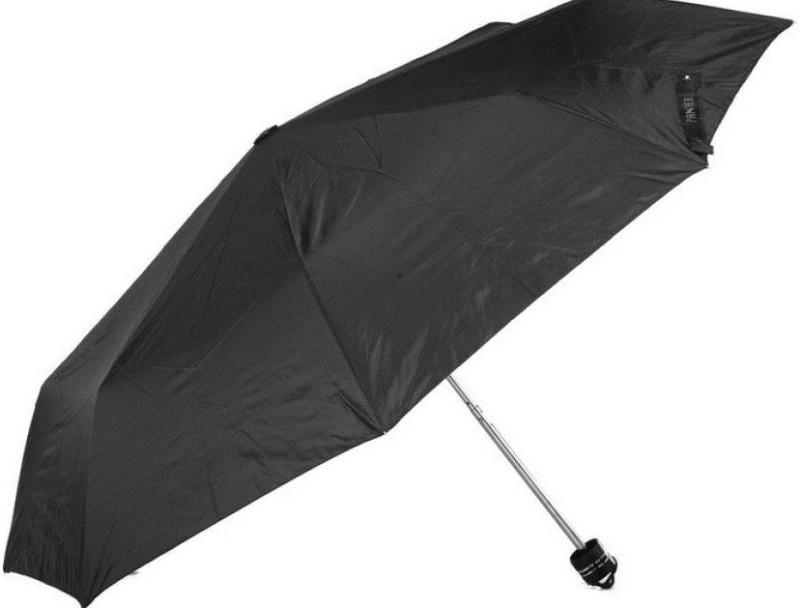 Chris Merchant Black 3 Fold Nylon Umbrella Umbrella(Blck)
