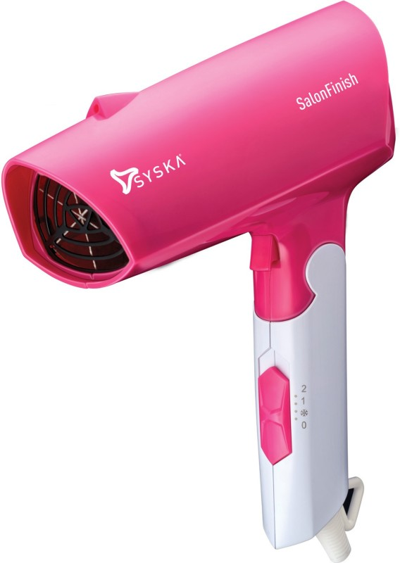 Syska Salon Finish HD8208 Hair Dryer(1600 W, Soft White, Pink)